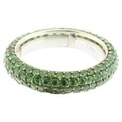 Eternity Ring in Tsavorite and White Gold