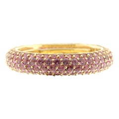 Eternity Ring Pink Sapphire and 18 Karat Yellow Gold