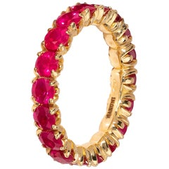 Eternity Ring with Rubies in 18 Karat Yellow Gold