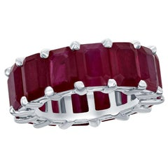 Eternity Ruby Emerald Cut 10 Carat