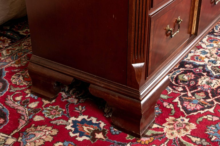 Ethan Allen 18th Century Style Tall Mahogany Mule Chest