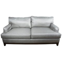 Ethan Allen Arcata Two Seat Sofa Gray Herringbone Contemporary 20-2114