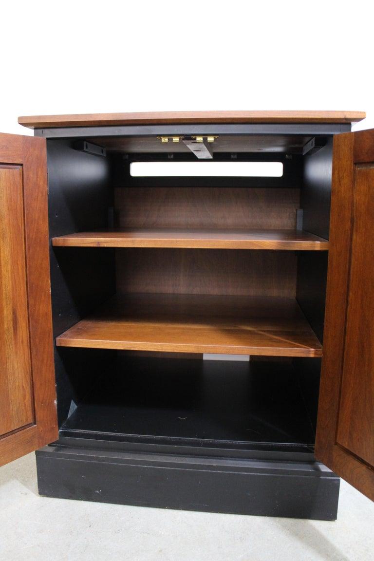 Ethan Allen Impressions Cherry Ebonized Nightstand Cabinet