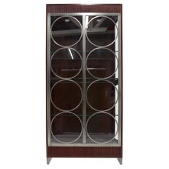 Ethan Allen Tall Rectangular Glass Display Cabinet Adjustable Shelves