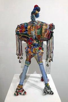 """A Guide That Grants Safe Passage"", Contemporary, Mixed Media, Fiber, Sculpture"