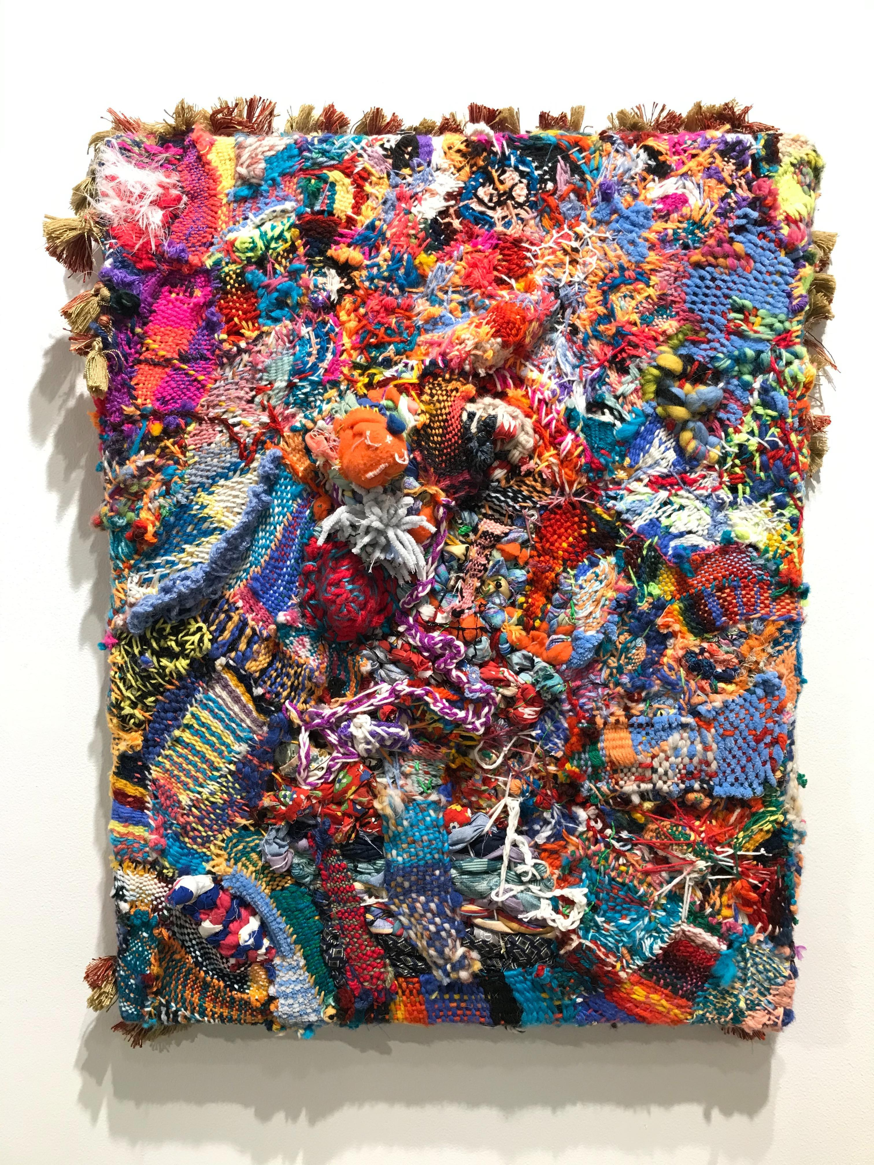 """""""Palinopsia"""", Contemporary, Fiber, Textile, Hand Woven, Abstract, Pattern, Color"""