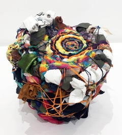 """""""The Seer's Stone"""", Abstract Mixed Media Sculpture"""