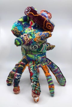 """""""This is Where the Wizard Lives"""", Contemporary, Fiber, Sculpture, Hand Woven"""
