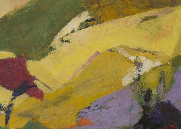 Mountains Above the Meadow (Semi-Abstract/Modernist Colorado Landscape) For Sale 3