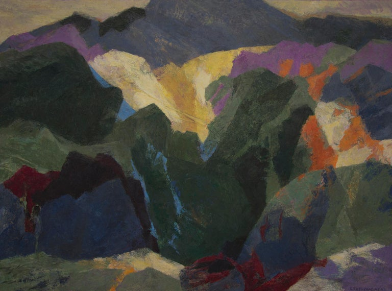 Mt. Sopris (Near Aspen and Carbondale, Colorado) - Painting by Ethel Magafan