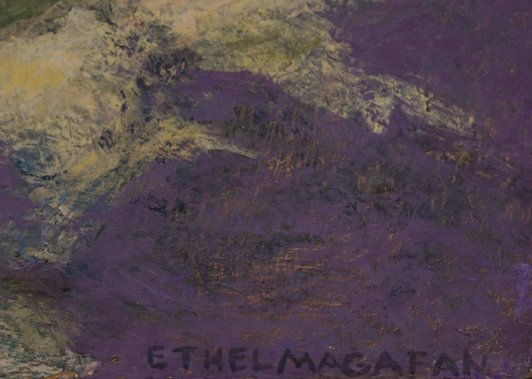 Mt. Sopris (Near Aspen and Carbondale, Colorado) - Abstract Painting by Ethel Magafan