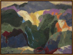 Mt. Sopris (Near Aspen and Carbondale, Colorado) semi-abstract painting
