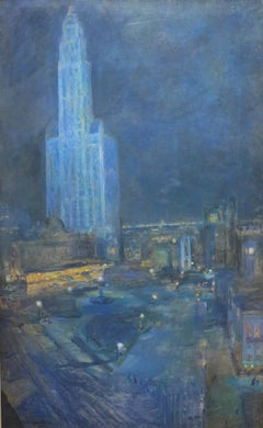 Woolworth Building and City Park (Manhattan Cityscape)