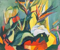 'Birds of Paradise, Hawaii', Mid-century, New York Woman Artist, Woodstock, ASL