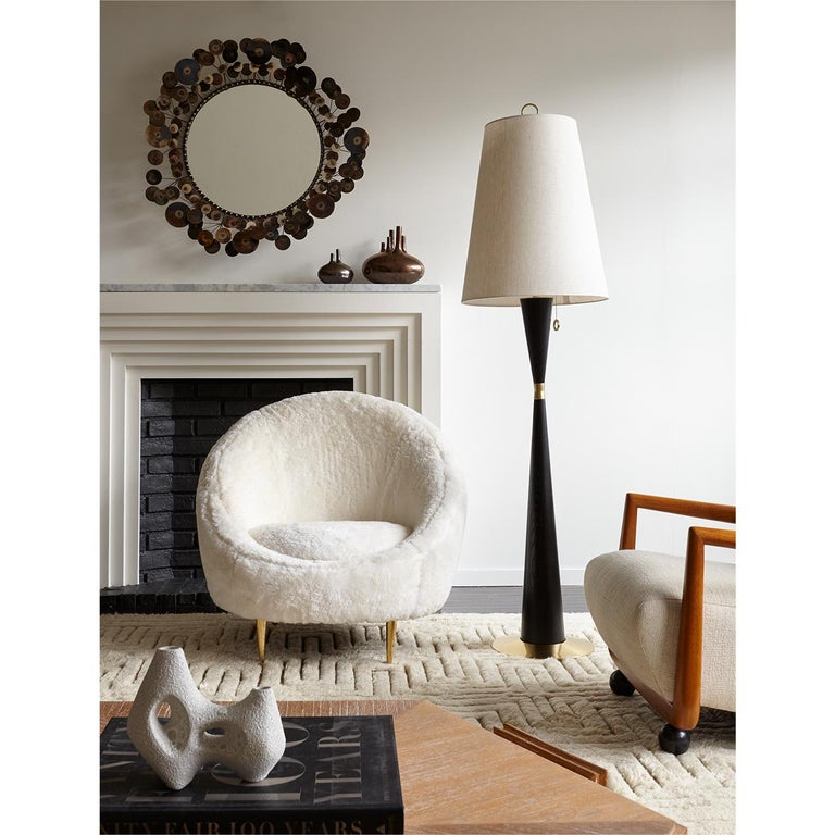 Ether Lounge Chair in Shearling For Sale 1