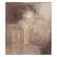 Ethereal Abstract Modernist Painting by Howard Schafer, circa 1960s