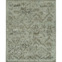 """""""Ethereal"""" Silver Beige Hand-Knotted Area Rug, In Stock"""
