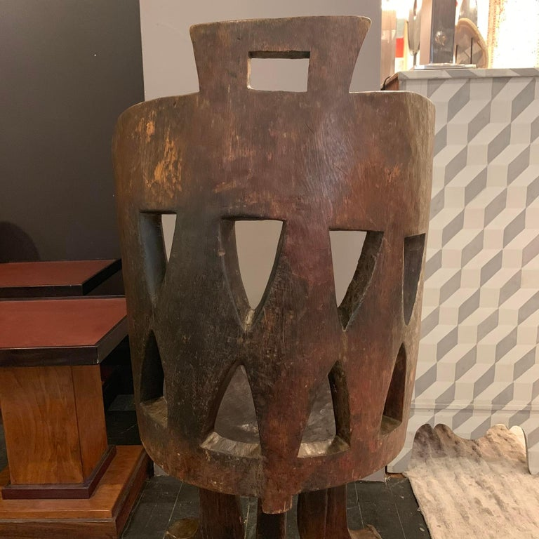 Ethiopian Barrel Back Side Chair, Africa, 1950s In Good Condition For Sale In New York, NY