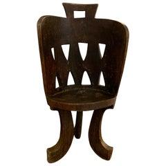 Ethiopian Barrel Back Side Chair, Africa, 1950s