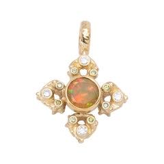 Ethiopian Opal Mandala Pendant