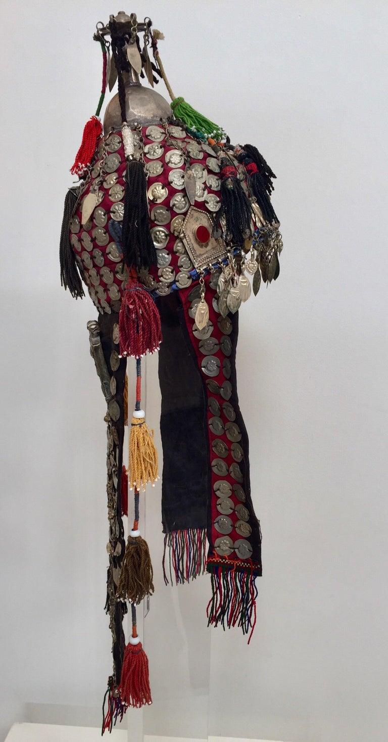 East Asian Ethnic Mongolian Wedding Head Dress For Sale