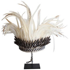 Ethnic Shell and White Feather Headdress
