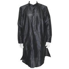 Ethnic Traditional Black Indian Dress Long Shirt Kurta