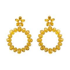 Etho Maria Citrine and 18 Karat Circle Earrings