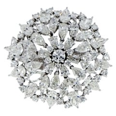 Etho Maria Floral Diamond White Gold Cocktail Ring