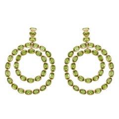 Etho Maria Peridot Double Circle Earrings