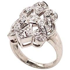 Ethonica Ballerina Diamond Ring in Platinum