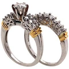 Ethonica Classic Round Diamond Engagement Ring in Platinum