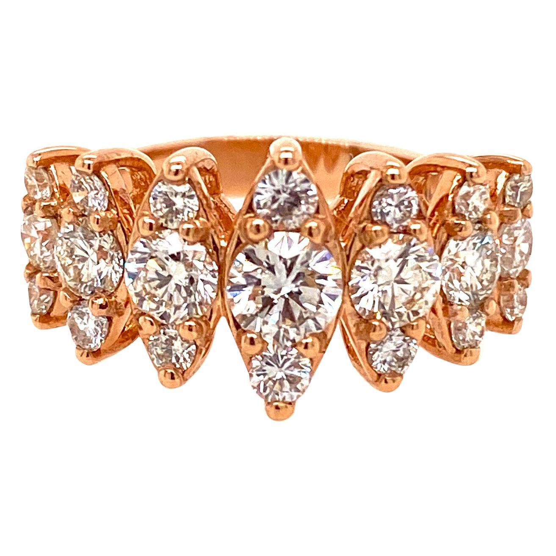 Ethonica Diamond Band in 18 Karat Rose Gold