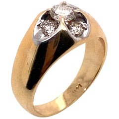 Ethonica Diamond Dome Ring in 14 Karat Gold
