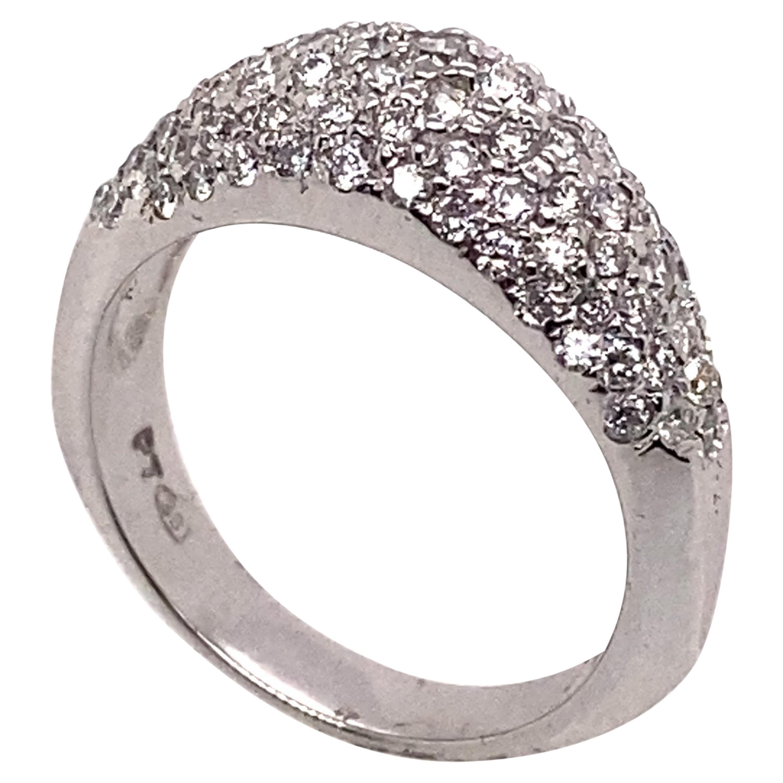 Ethonica Diamond Dome Ring in Platinum