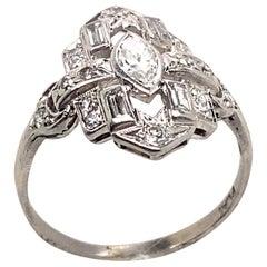 Ethonica Lolita Diamond Ring in Platinum