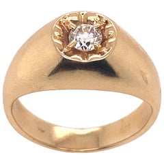 Ethonica Solitaire Diamond Ring in 14 Karat Gold