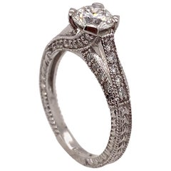 Ethonica Solitaire Diamond Ring in 18 Karat Gold