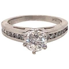 Ethonica Solitaire Diamond Ring in Platinum