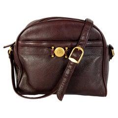 Etienne Aigner Burgundy Leather Shoulder Bag 1980s