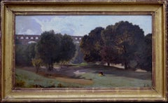 Landscape with Viaduct - 19th Century Landscape, oil