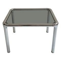 Étienne Fermigier Chrome Side Table, France, 1970s