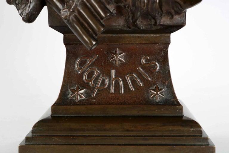 19th Century Etienne Henri Dumaige 'French, 1830-88' Antique Bronze Sculpture Bust