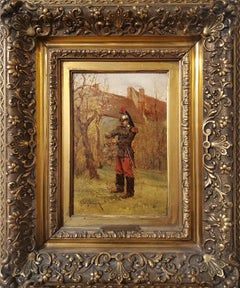 French Soldier Standing In An Autumn Landscape