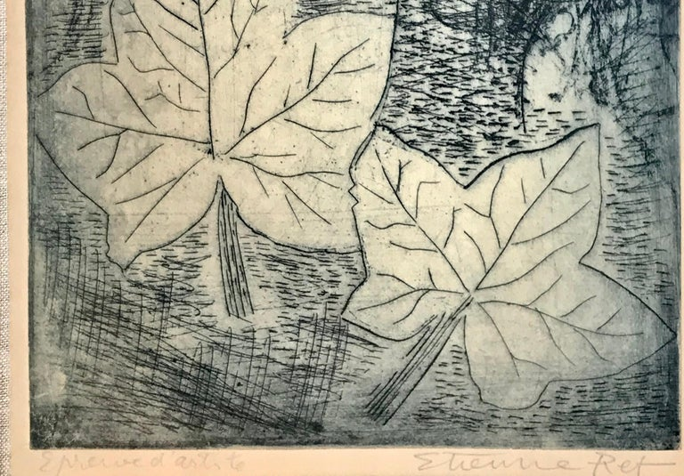 Original handcolored etching by the well known French artist, Etienne Ret.  Pencil signed by artist lower right and penciled lower left, artist proof.  Provenance:  Vera Lazuk Gallery, Cold Spring Harbor, New York.  Gallery label verso with title