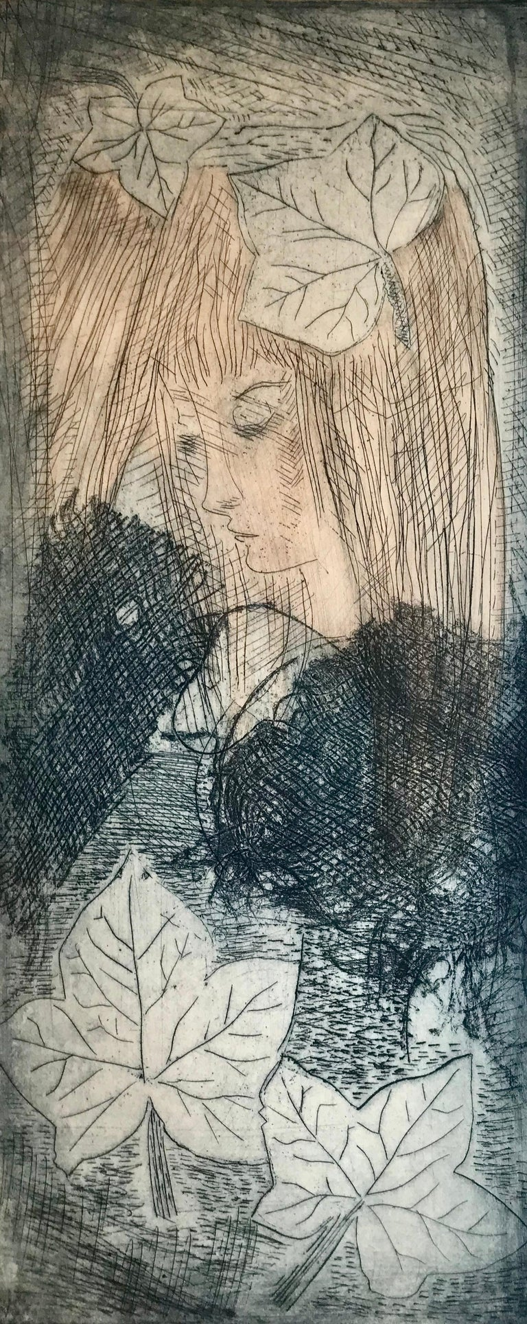 "Etienne Ret Figurative Print - ""Murmure"""