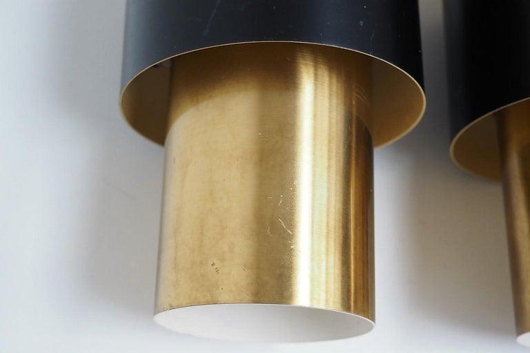 Metal Etna Pendants Designed by Jo Hammerborg for Fog & Mørup, 1960s For Sale