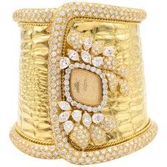 """""""Etoile"""" Diamond Cuff Watch"""