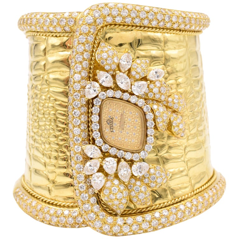 """Etoile"" Diamond Cuff Watch For Sale"