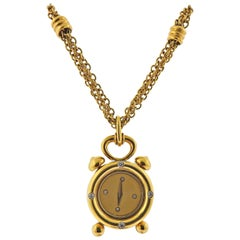 Etoile Gold Diamond Watch Pendant Necklace
